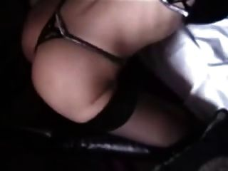 Transsexual In Leather Driving Gloves