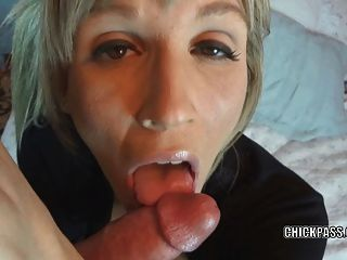 Blonde Milf Jolene Gets Her Face Covered With Cum
