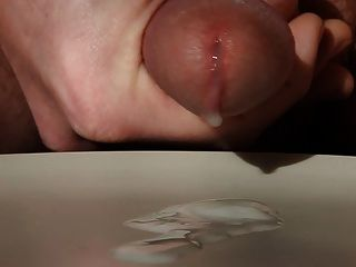 Another Load Of Close-up Cum From My Circumcised Cock