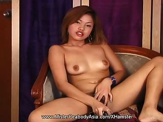 Asian Cutie Shows Off Body