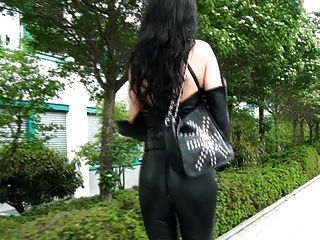 A Diva Walking In Leather Pants