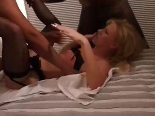 Black Dicks For Blonde In Stockings