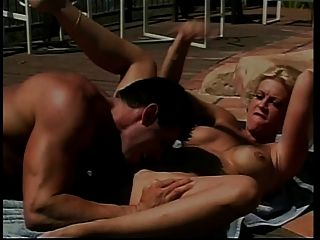 Mature Blonde Beauty Gets Her Pussy Tasted And Fucked Poolside