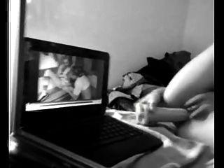 She Masturbates While Watching Porn 2