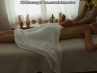 Sexy Blonde Gets Full-body Massage And Fuck