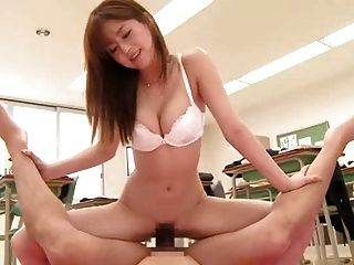 Asian Teacher Fucks Student In The Amazon Position