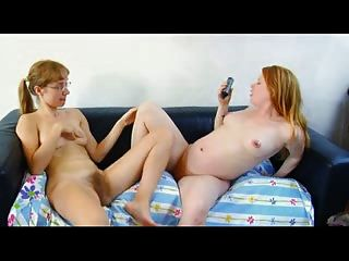 Sexy Redheads Masturbating Together