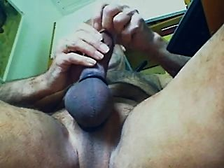 Webcam-session With Multi Cock Ring, Much Cumm, Eating It