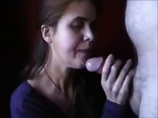 Amateur Mature Deepthroats Thick Cock & Sucks It Dry