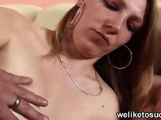 Teen Brings Her Mum For Blowjob Support