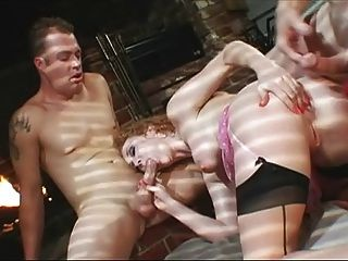 Superb Audrey Rough Double Anal
