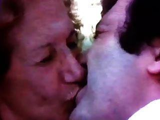 Young Man Kissing Old Lady 2