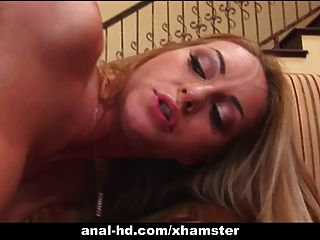 Blonde Takes Anal Plugging From Black Cock