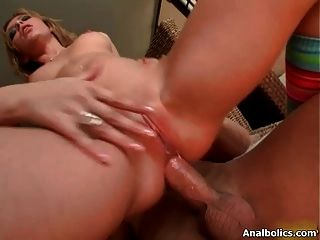 Nasty Brunette Slut Goes Crazy Riding