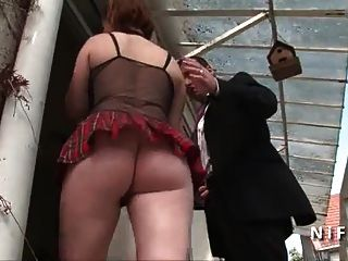 Young French Student Hard Anal Fucked