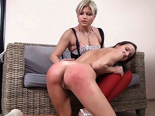 Nude Girl Spanked