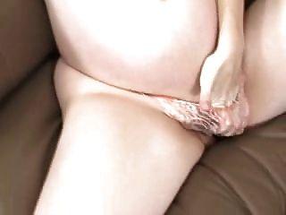 Hairy Pregnant Brunet Masturbat