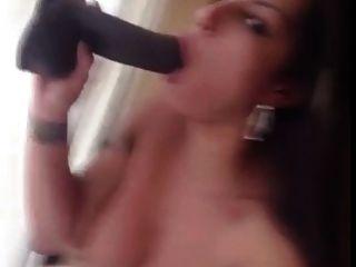 Spicy J Sucking Dildo