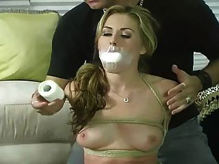 Very Sexy Blonde Wants To Get Hogtied And Gagged