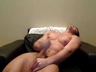 Str8 Men Play On His Big Leder Armchair