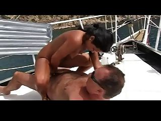 Amateur Blowjob On The Boat