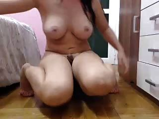 Busty Brunette Fake Cock
