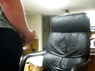 Huge Cumshot On Leather Chair 3