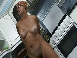 Grandmother Masturbates In The Kitchen
