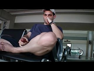 Airport Lounge Wank And Cum