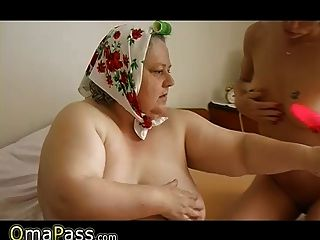 Old Bbw Granny Playing With Dildo And Her Pussy