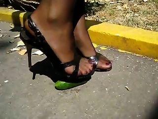 High Heel Nylon Crush