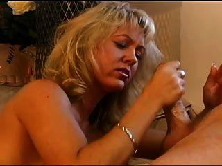 Blond Milf Gives Handjob, Facial