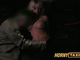 Hornytaxi Mature Milf In Backseat Midnight Fun