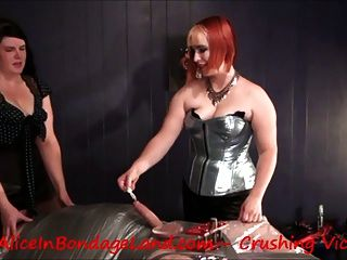 Cbt Ball Crushing Oral Sex Facesitting Femdom Threesome