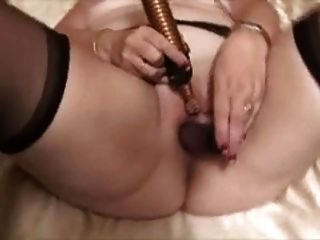 Granny Masturbates With Dildo And Orgasm