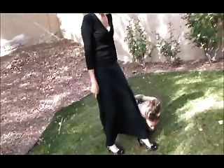 Mistress Play With Lesbian Feet Slave Outdoor