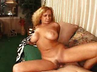 Mature Blonde Riding A Cock