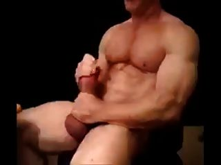 Daddy Strokes His Big Pumped Cock