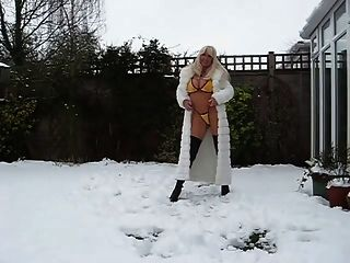 Milf In Fur Coat And Boots