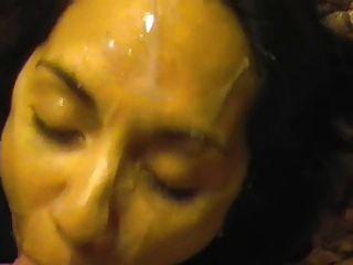 Hot Little Milf Facial Cumpilation