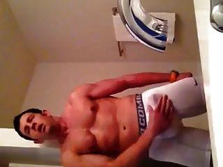 Dude From Atlanta Strokes His Cock Through His Shot
