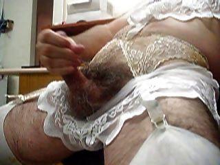 Crossdresser In Lave Lingerie Masturbating