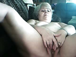Fat Blond Granny In Webcam R20
