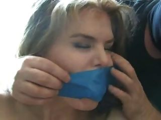 Super Hot Chick Tied Up And Gagged
