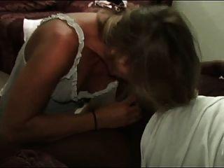 Blond Milf Takes Black Dick