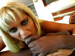 Big Tits Brazilian Blonde Bounces On A Bbc