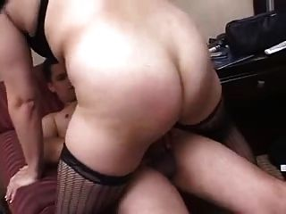 Horny Milf In Lingerie Takes It In Pussy And Ass