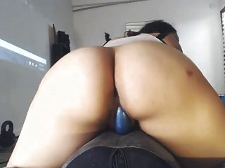 Miara R. And Her Blue Dildo