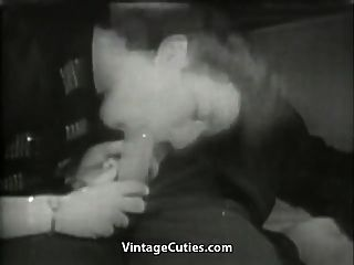 German Wife Gives Husband Head (1940s Vintage)