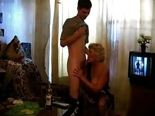 Granny Takes A Bottle And Dick